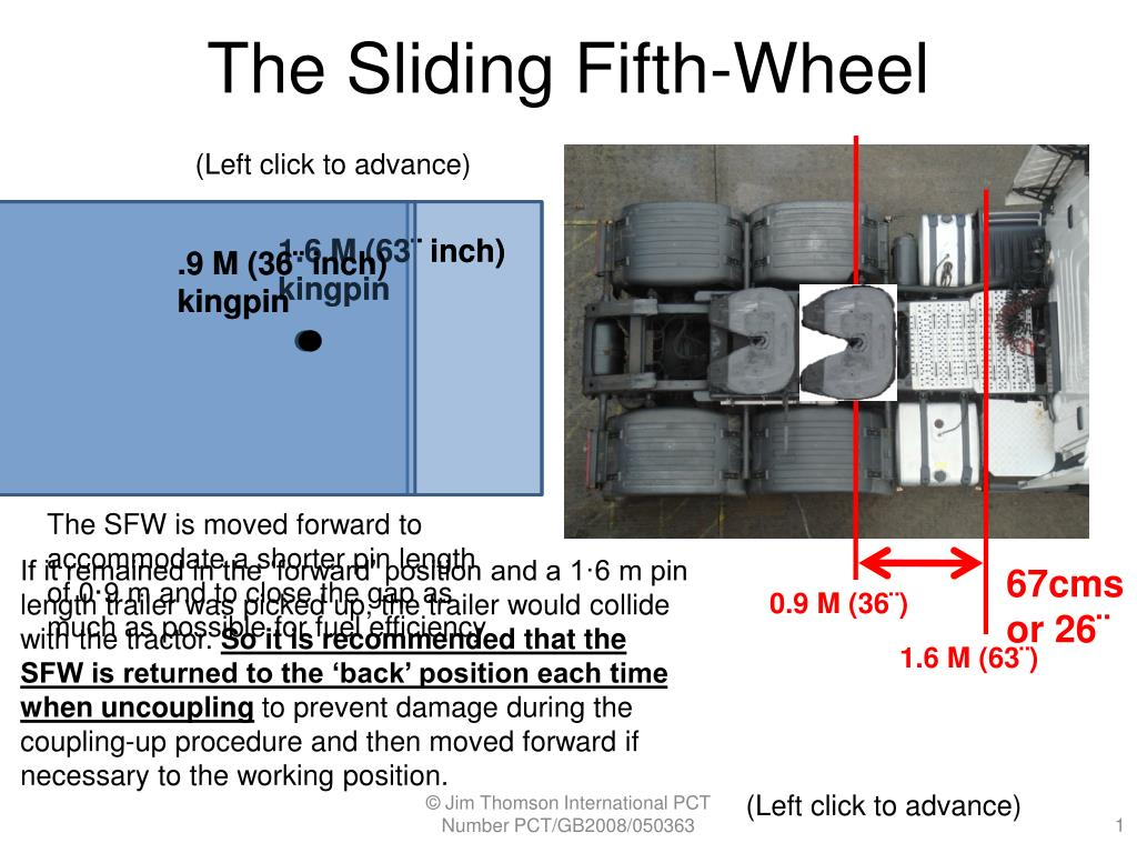 the sliding fifth wheel l.