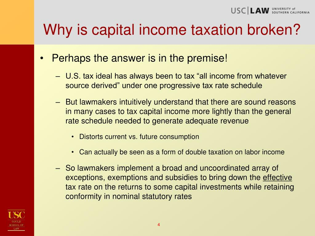 Why is capital income taxation broken?