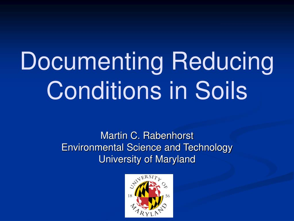 documenting reducing conditions in soils l.