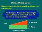 define mixed costs