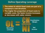 define operating leverage