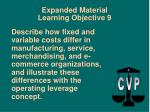 expanded material learning objective 9