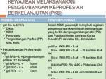 kewajiban melaksanakan pengembangan keprofesian berkelanjutan pkb