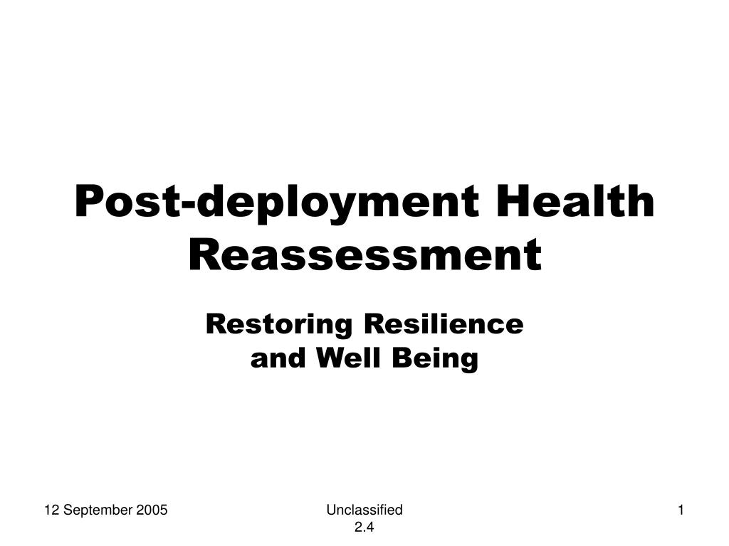 post deployment health reassessment l.