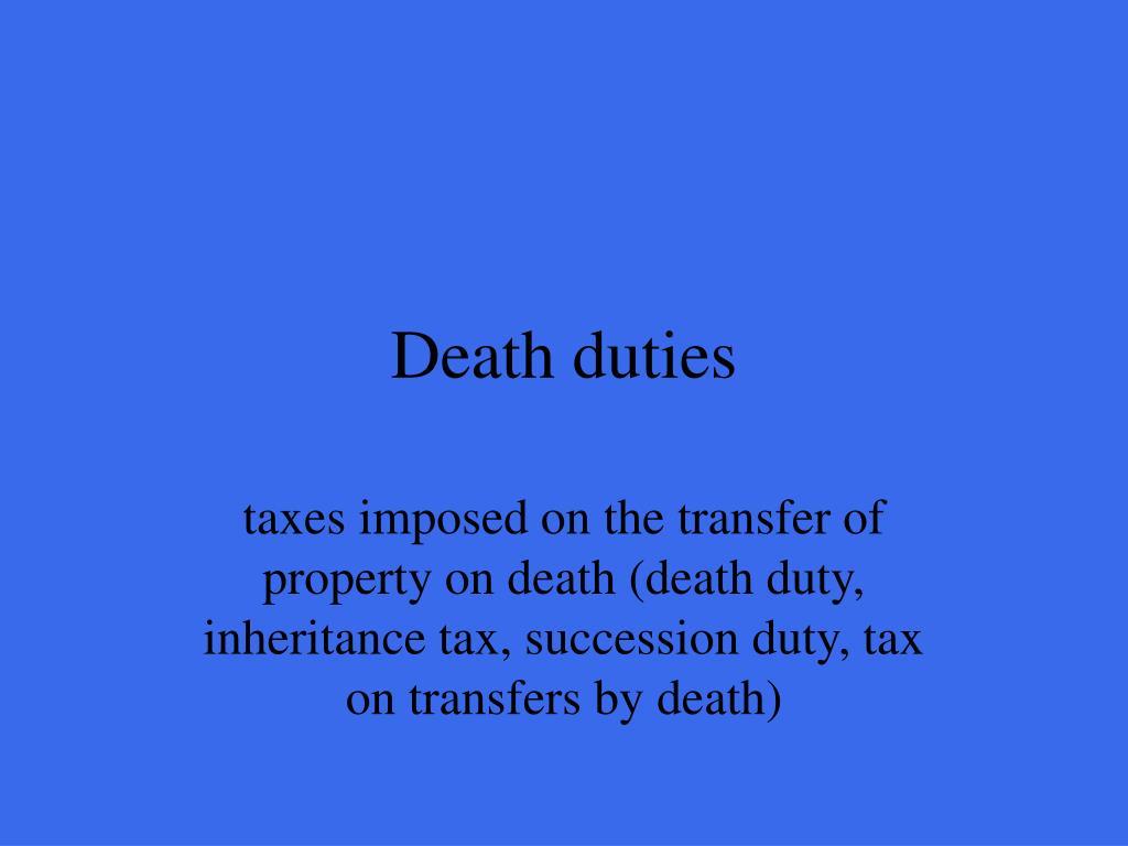 Death duties