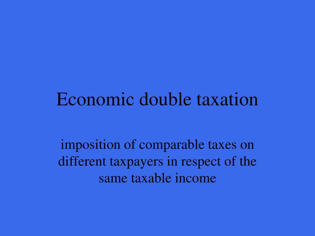 Economic double taxation