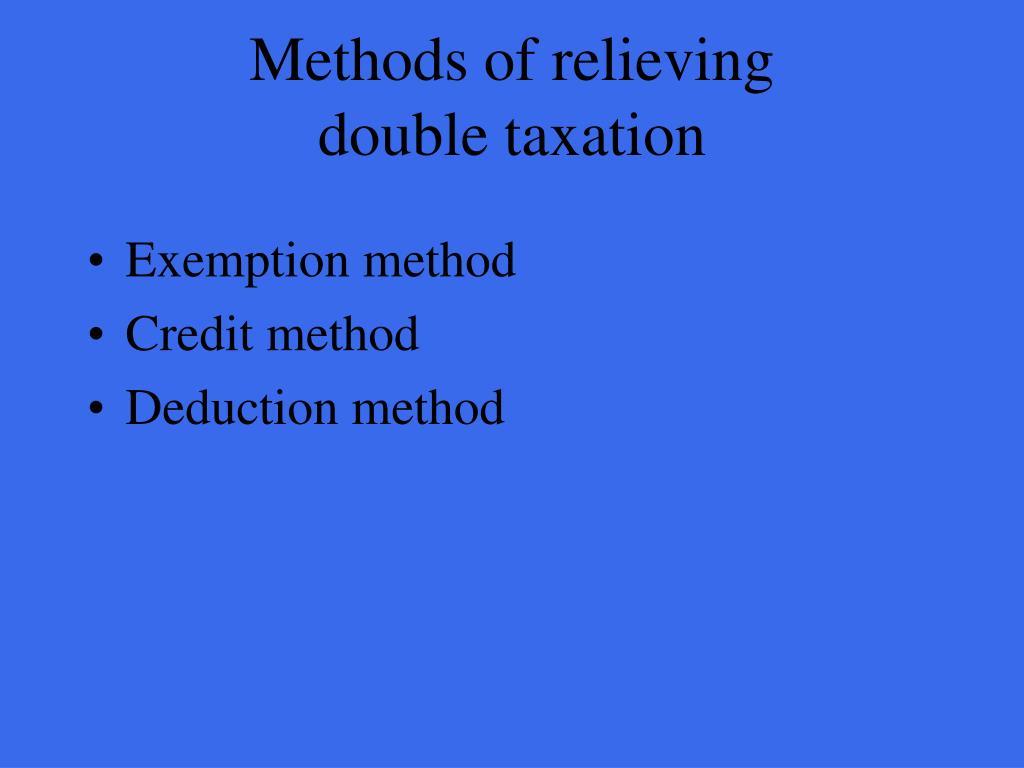 Methods of relieving
