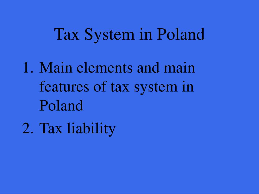 Tax System in Poland