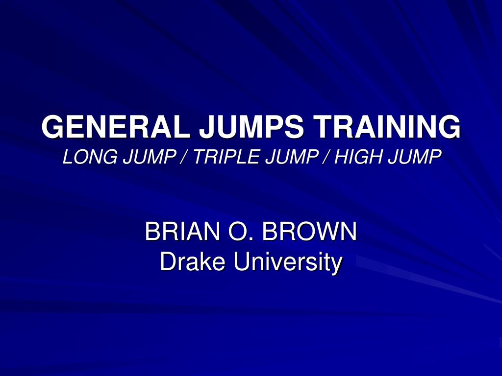general jumps training long jump triple jump high jump l.