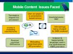 mobile content issues faced