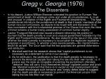 gregg v georgia 1976 the dissenters