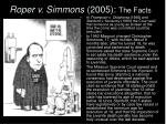 roper v simmons 2005 the facts