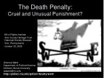 the death penalty cruel and unusual punishment