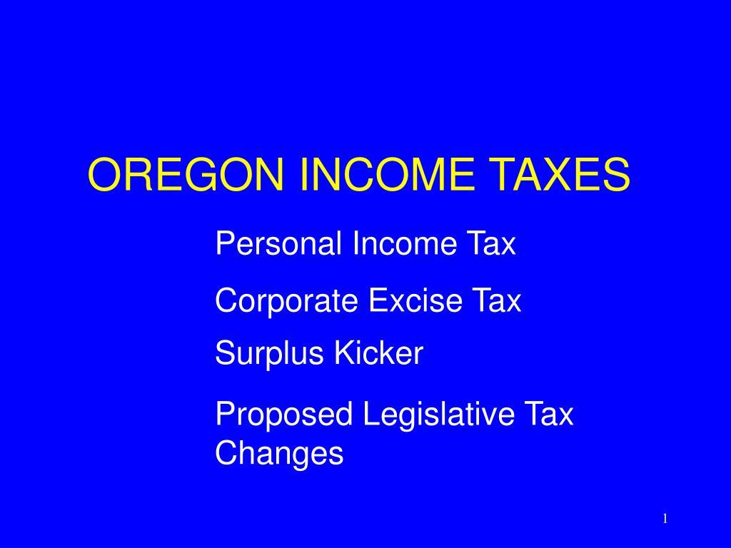 oregon income taxes l.
