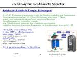 technologien mechanische speicher