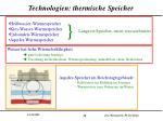 technologien thermische speicher