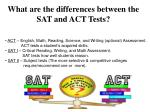 what are the differences between the sat and act tests