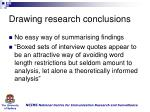 drawing research conclusions
