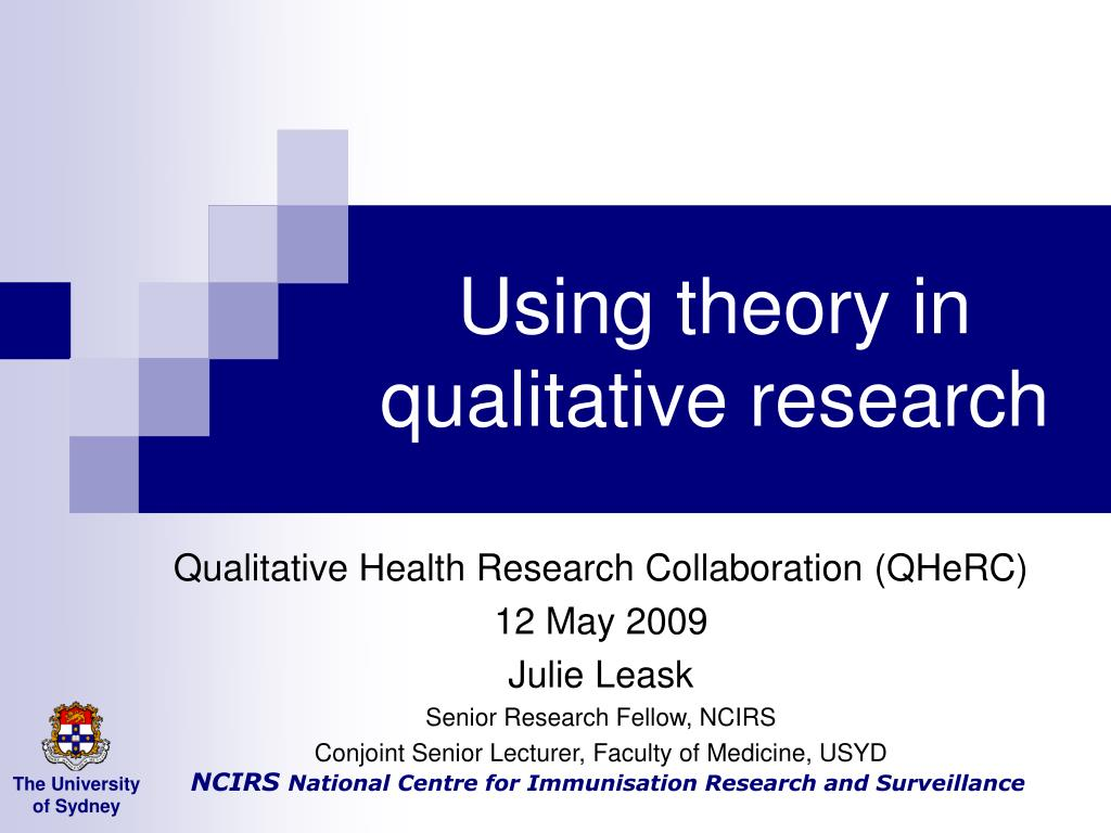 using theory in qualitative research l.
