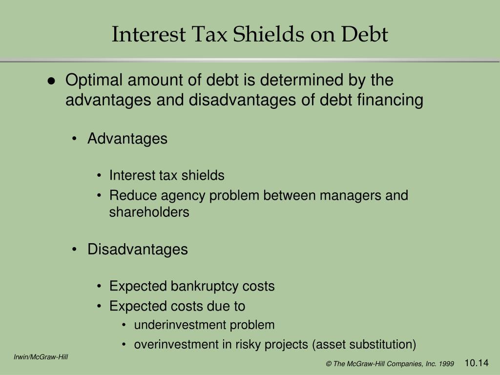 Interest Tax Shields on Debt
