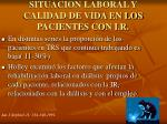situacion laboral y calidad de vida en los pacientes con i r