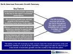 north american economic growth summary