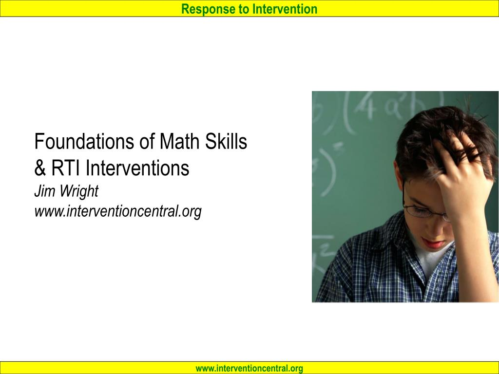 foundations of math skills rti interventions jim wright www interventioncentral org l.