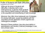 profile of students with math difficulties kroesbergen van luit 2003