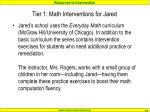 tier 1 math interventions for jared