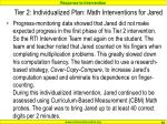 tier 2 individualized plan math interventions for jared