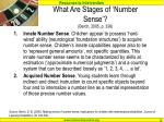what are stages of number sense berch 2005 p 336