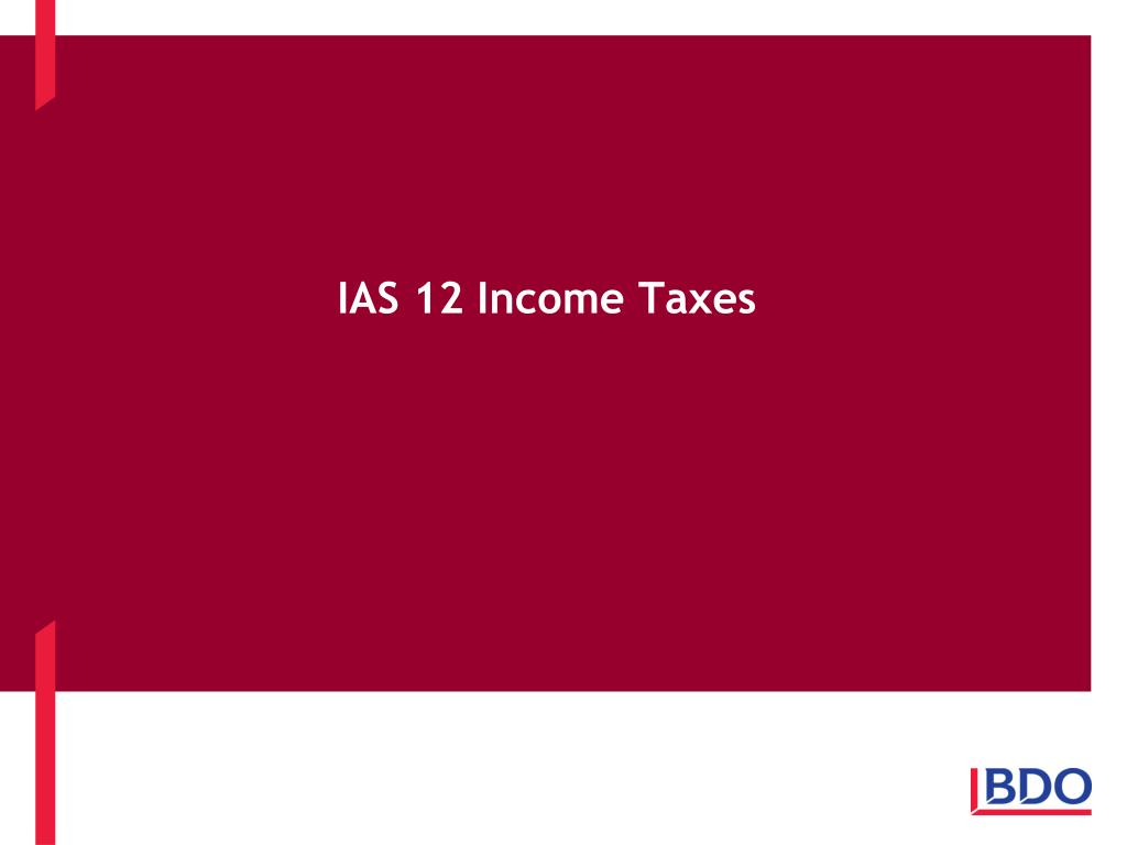 ias 12 income taxes l.