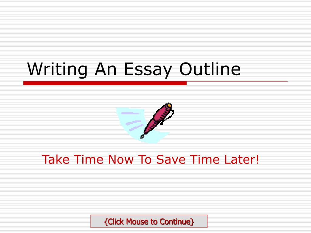 writing an essay outline l.