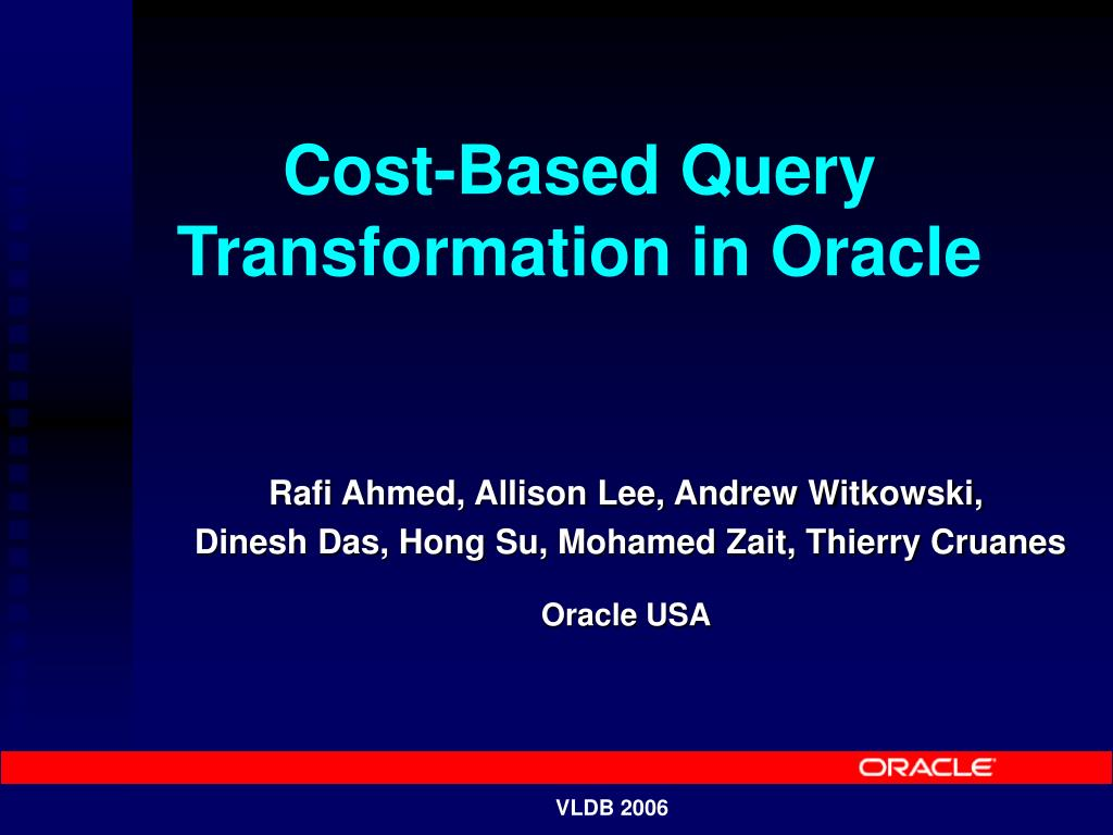 cost based query transformation in oracle l.