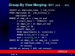group by view merging q11 q10 q11