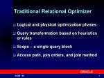 traditional relational optimizer