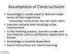 assumptions of constructivism