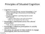 principles of situated cognition