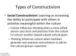 types of constructivism15