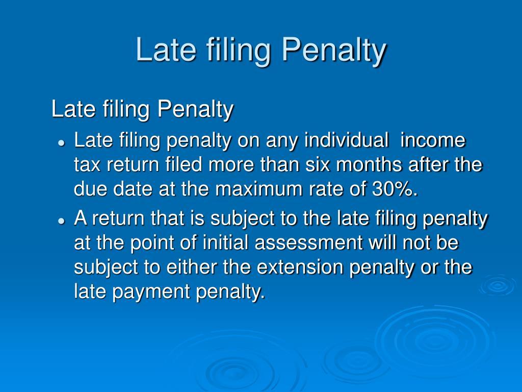 Late filing Penalty