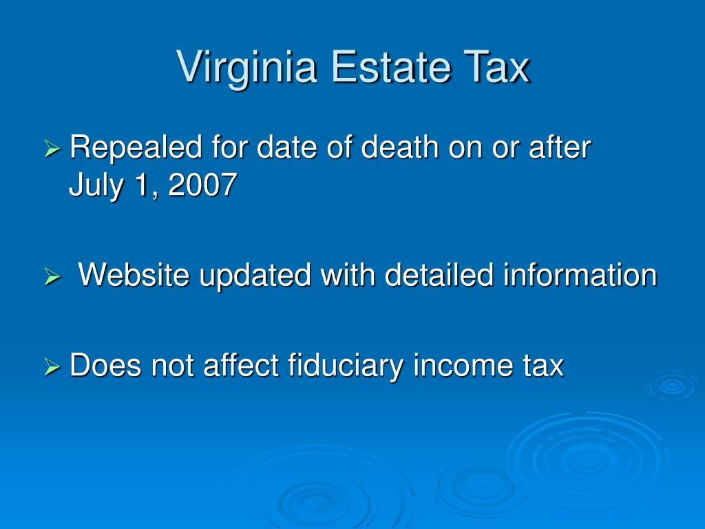 Virginia Estate Tax