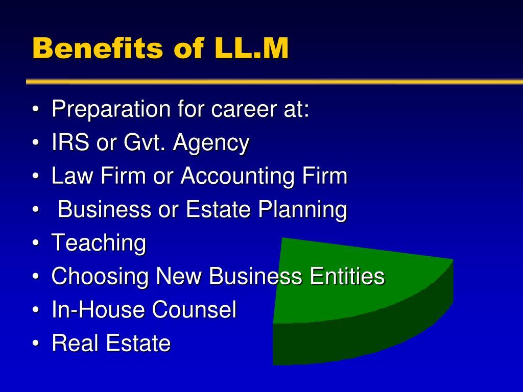 Benefits of LL.M