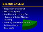 benefits of ll m