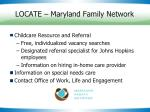 locate maryland family network
