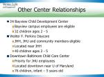 other center relationships