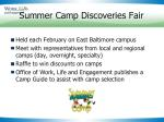 summer camp discoveries fair