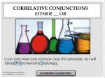 correlative conjunctions either or