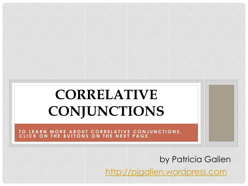 correlative conjunctions l.