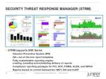 security threat response manager strm