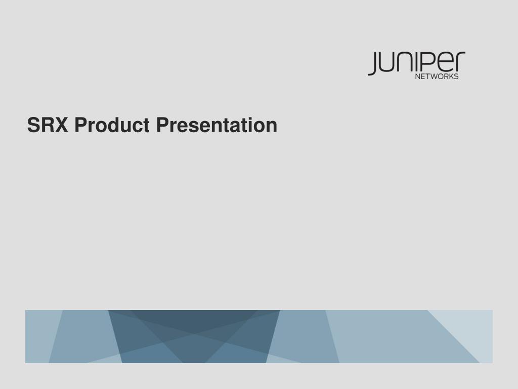 srx product presentation l.
